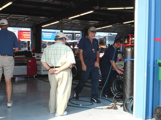 AJ Foyt IV garage area.