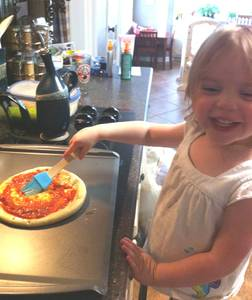 Highlight for album: 2012 Mary Elizabeth makes pizza.
