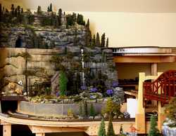 Sunrise Mountain on Grandpa's wine cellar toy trainswinecellartrains.comIMG 1445a
