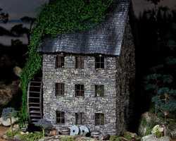 Old Pine Ridge Milldiorama pinehouse 0513